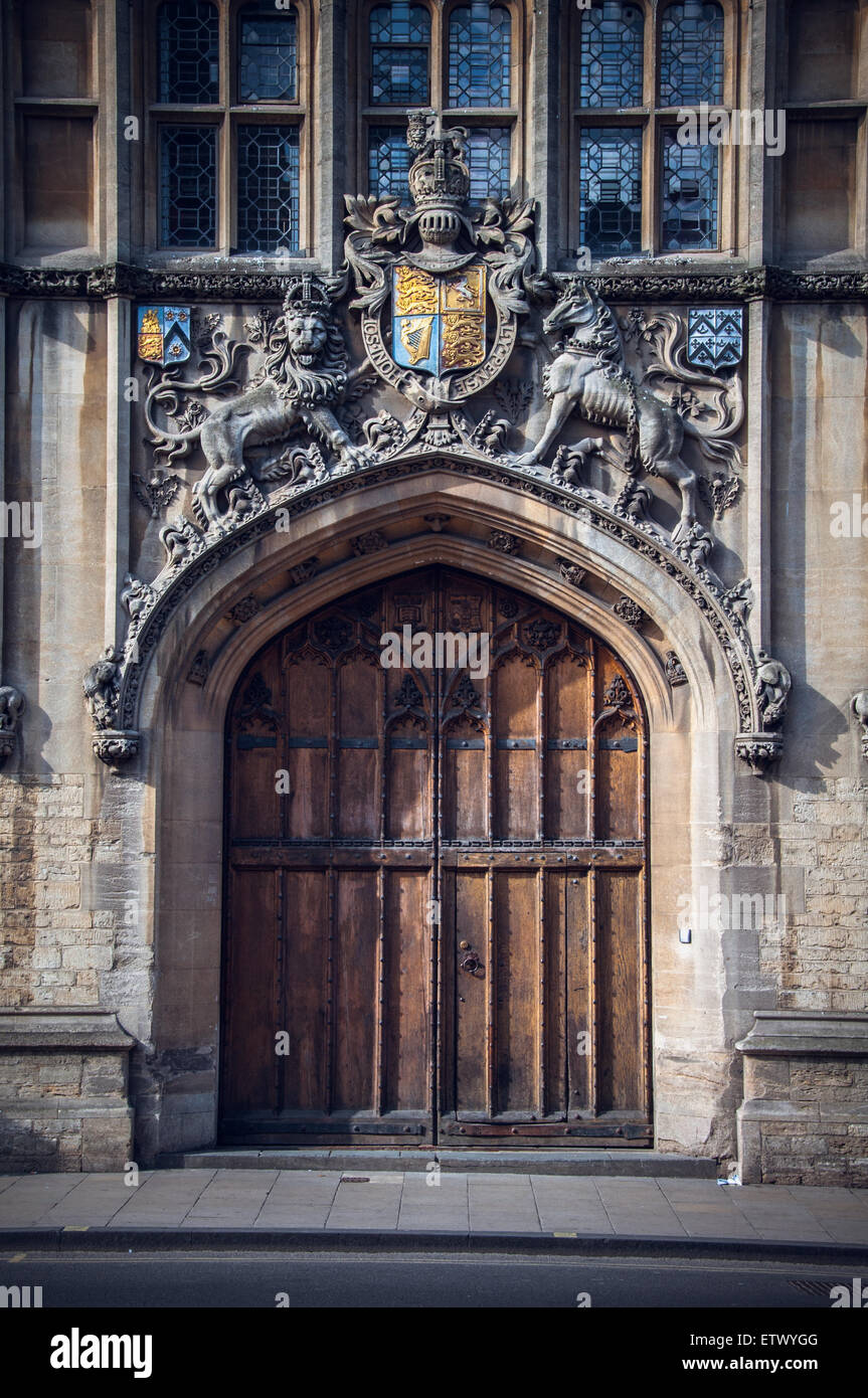 Vintage doors and gates of Oxford Brasenose College United Kingdom & Vintage doors and gates of Oxford Brasenose College United Kingdom ...