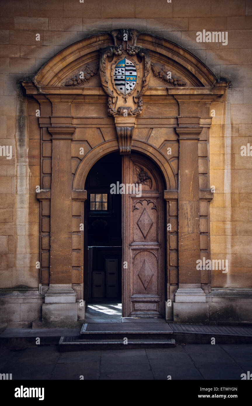 Vintage doors and gates of Oxford, Sheldonian Theatre, United Kingdom Stock Photo