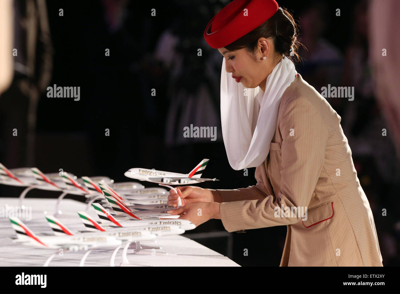 Dubai, United Arab Emirates, the Emirates Airline Stewardess - Stock Image