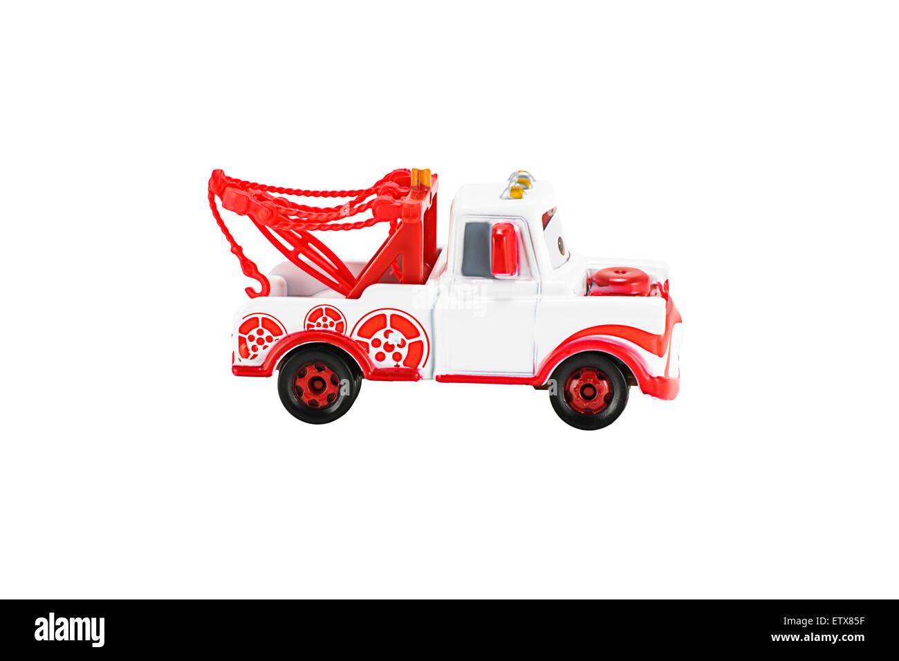 Bangkok,Thailand - February 05, 2015: Tokyo Mater toy car  Japan version a main protagonist of the Disney Pixar Stock Photo