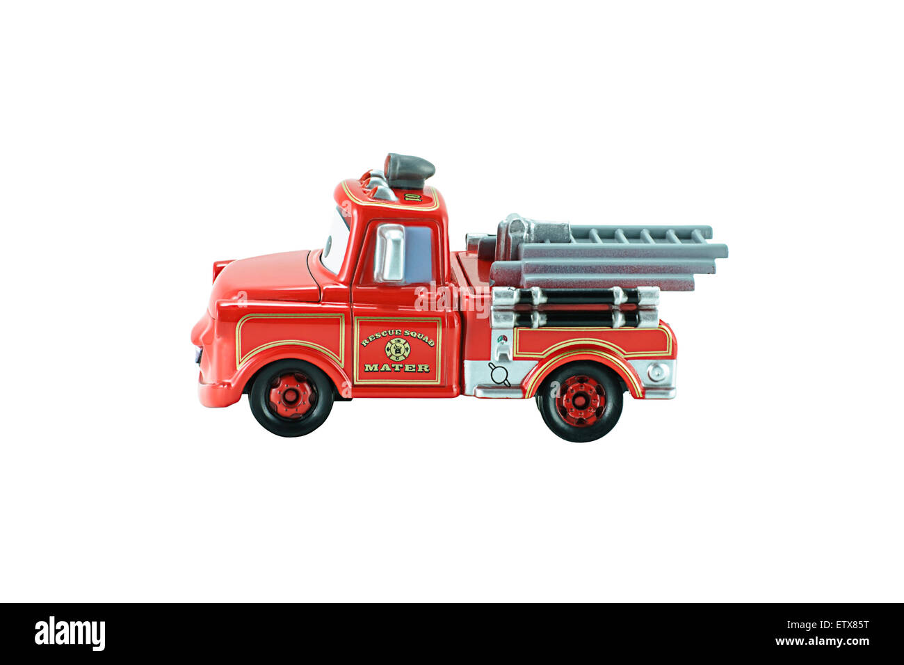 Bangkok,Thailand - February 05, 2015: Rescue squad Mater toy car a protagonist of the Disney Pixar feature film Stock Photo