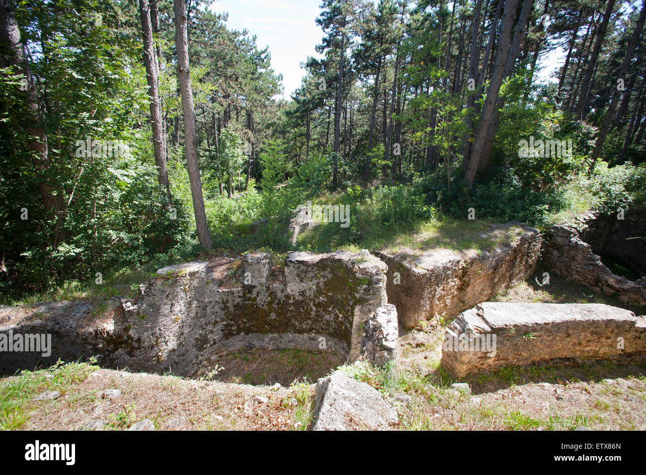 trincea quota 121, carso mountains, monfalcone, province of gorizia, friuli venezia giulia, italy, europe - Stock Image