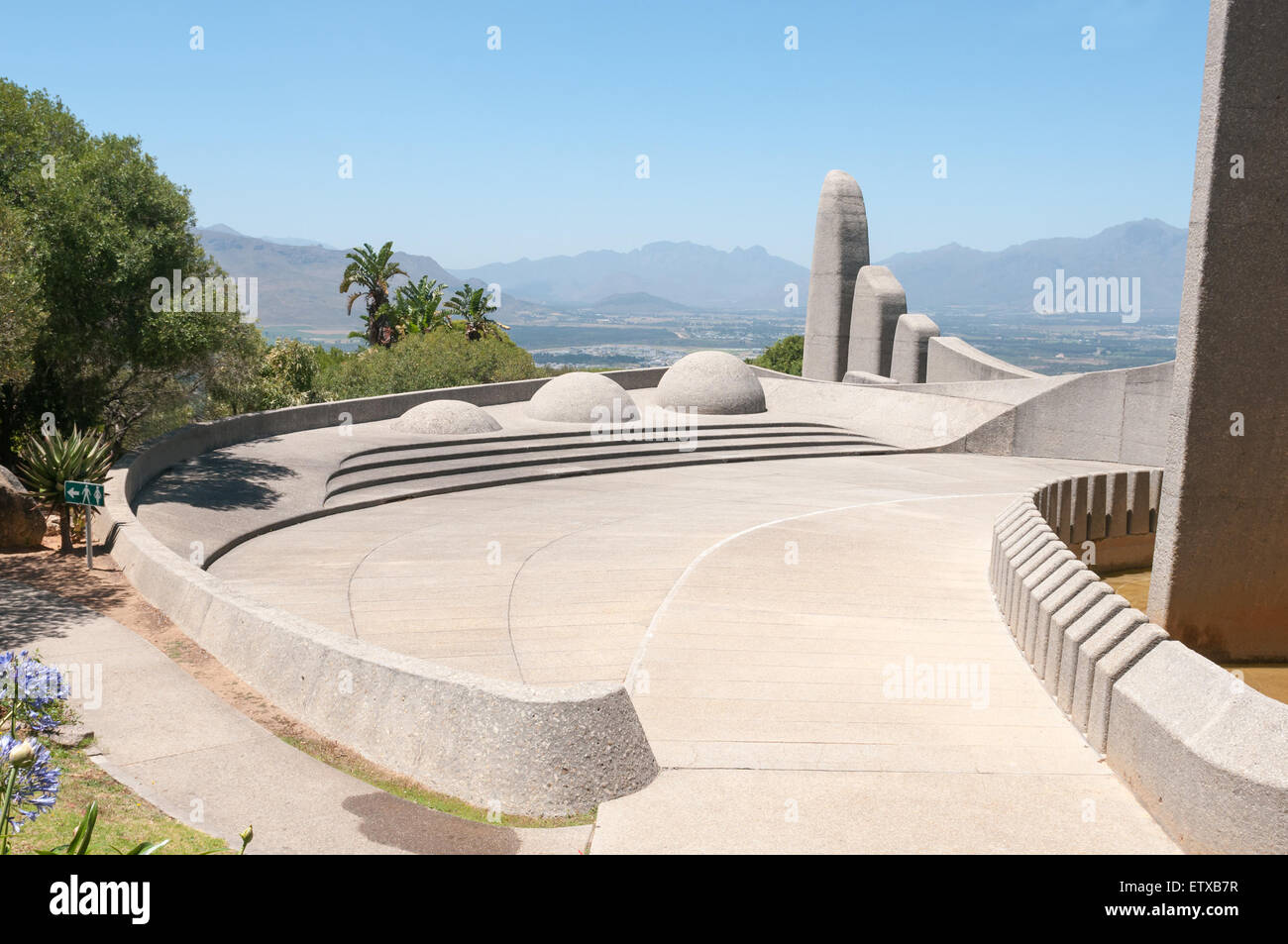 Monument commemorating the development of the Afrikaans language in Paarl, South Africa - Stock Image