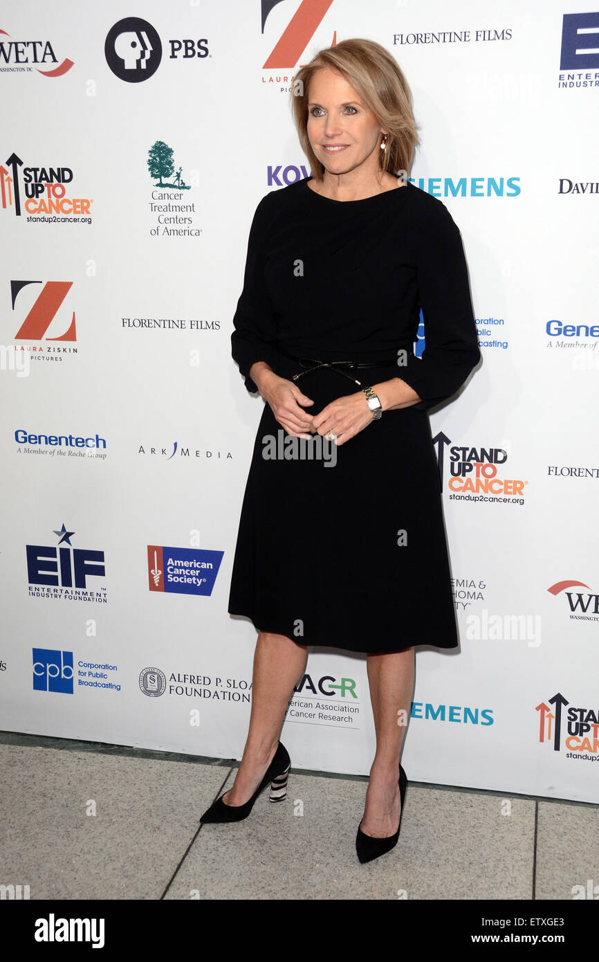 Cancer: The Emperor of All Maladies New York Screening - Red Carpet Arrivals  Featuring: Katie Couric Where: New - Stock Image