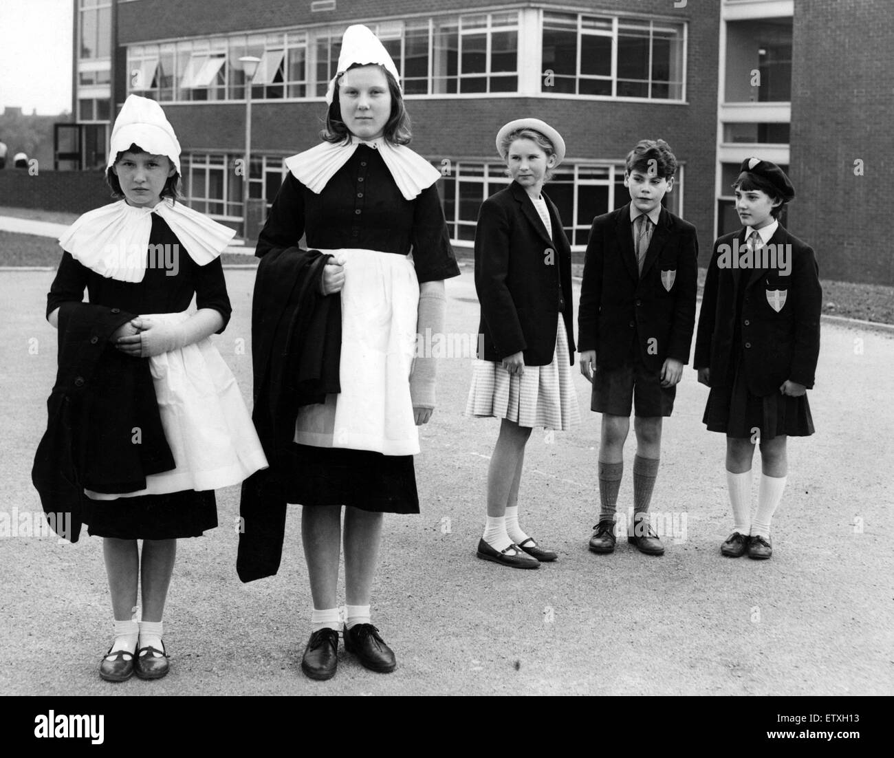 Blue Coat School uniform, Coventry  3rd June 1965 Stock