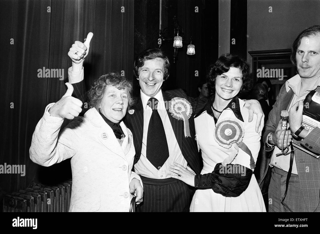 Ladywood, Birmingham, By-election, 18th August 1977.  Declaration, John Sever, Labour wins with 8,227 votes. Anthony - Stock Image