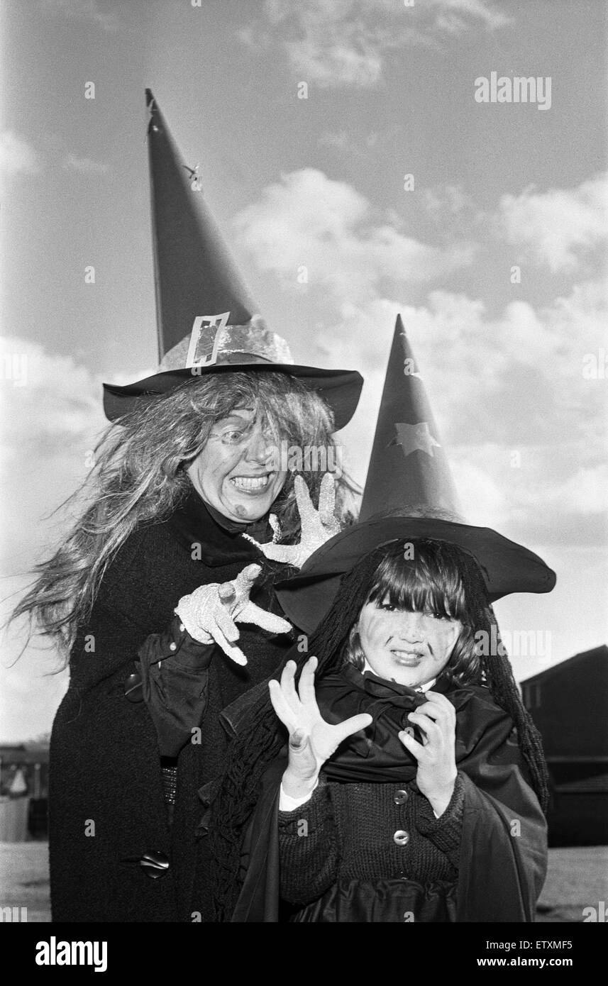 Halloween in Redditch 30th October 1979 - Stock Image