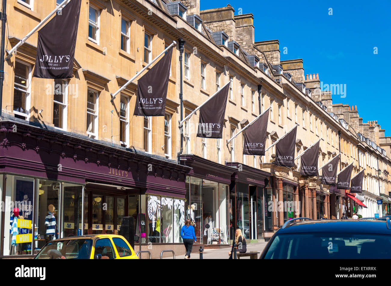 Jollys department store shop on Milsom Street, Bath, Somerset Stock ...