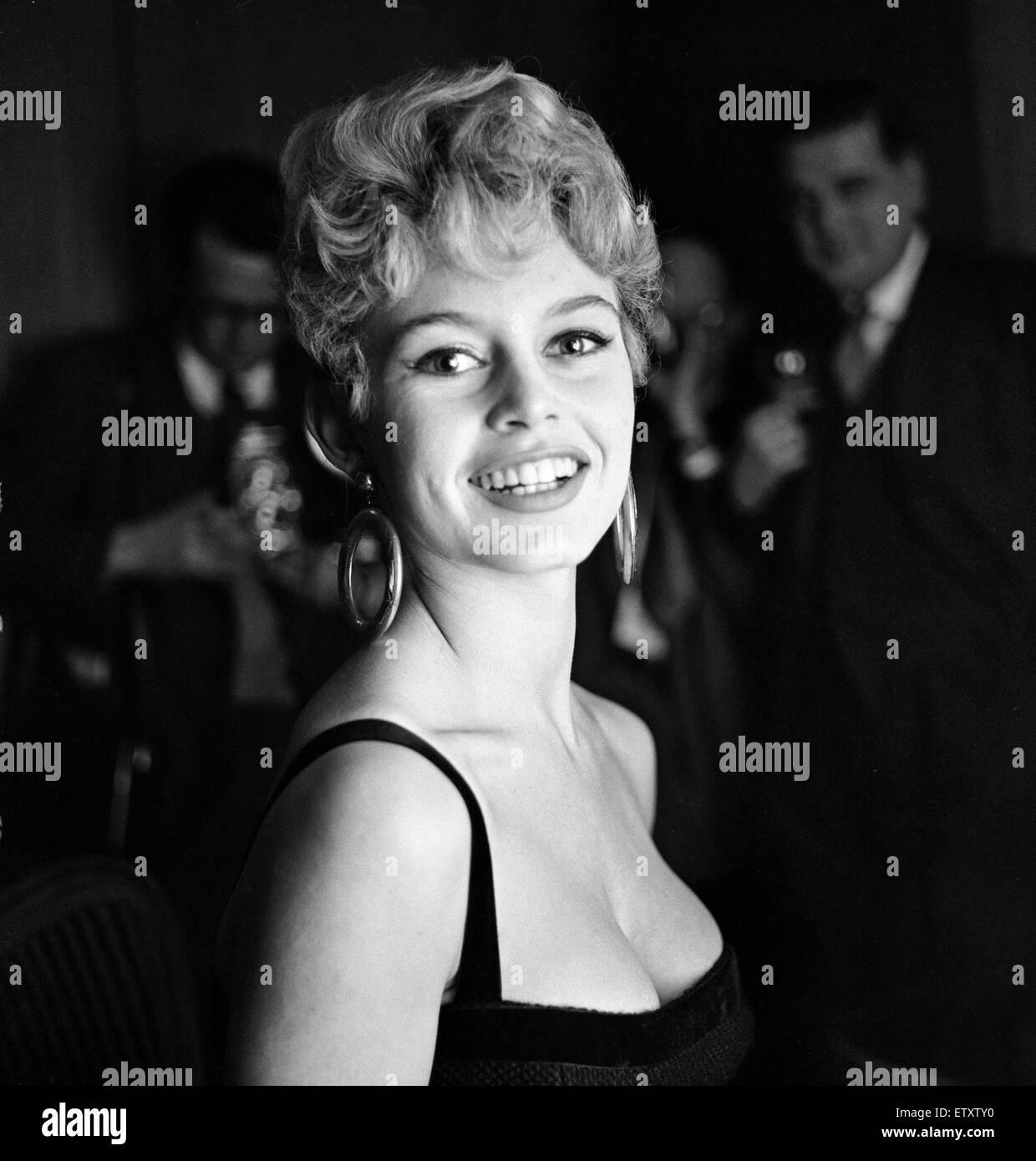 French film actress Brigitte Bardot. November 1956 - Stock Image