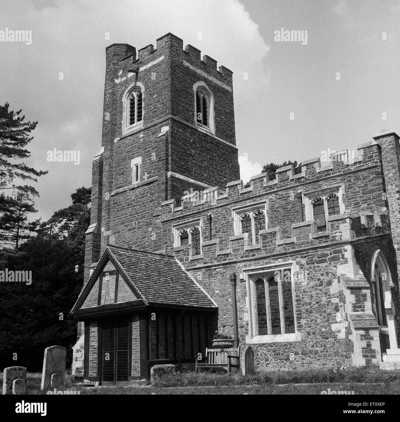 Church of St Peter & St Paul, Flitwick, Bedfordshire. 17th August 1962. - Stock Image