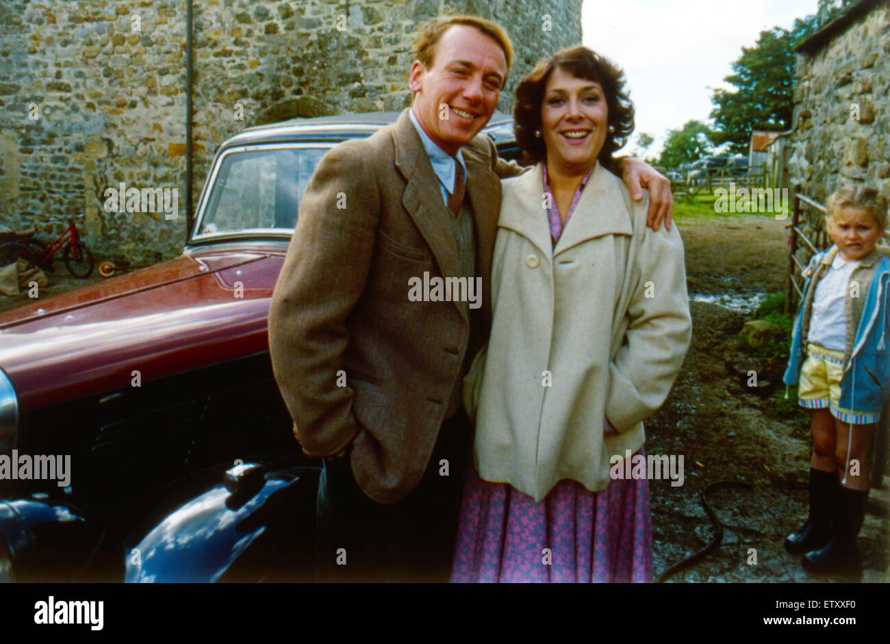 'All Creatures Great and Small' cast members Lynda Bellingham and Christopher Timothy.  January 1988. - Stock Image