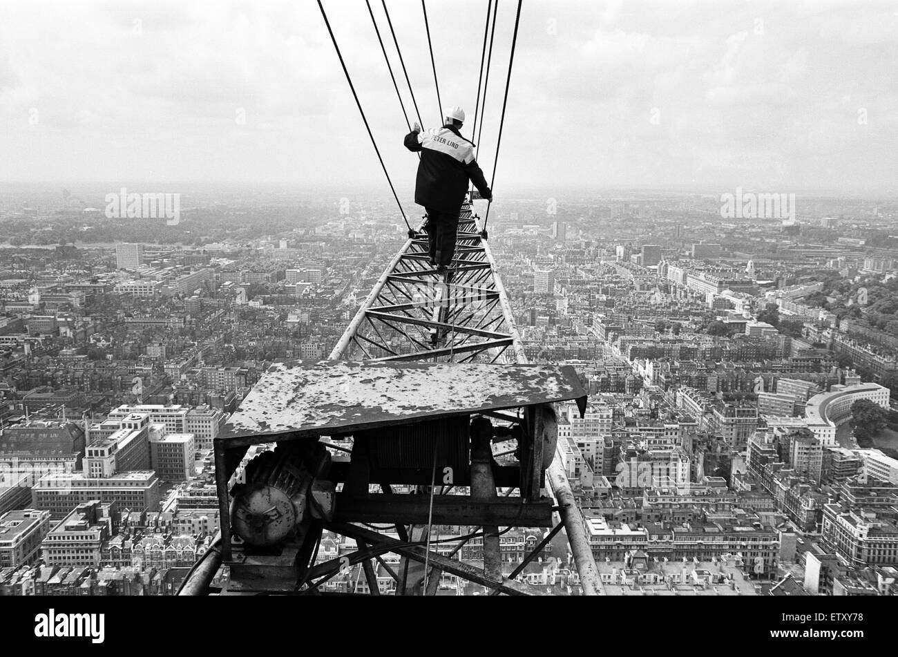 Construction of the GPO Tower, London. 15th July 1964. - Stock Image