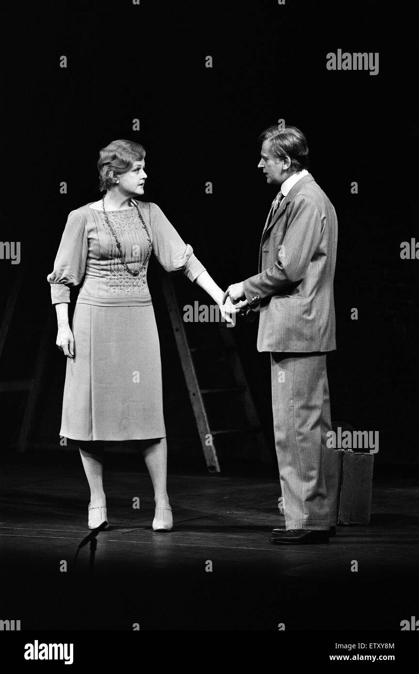 Angela Lansbury playing 'Rose' and Stanley Fleet as 'George' on stage during a special dress rehearsal - Stock Image