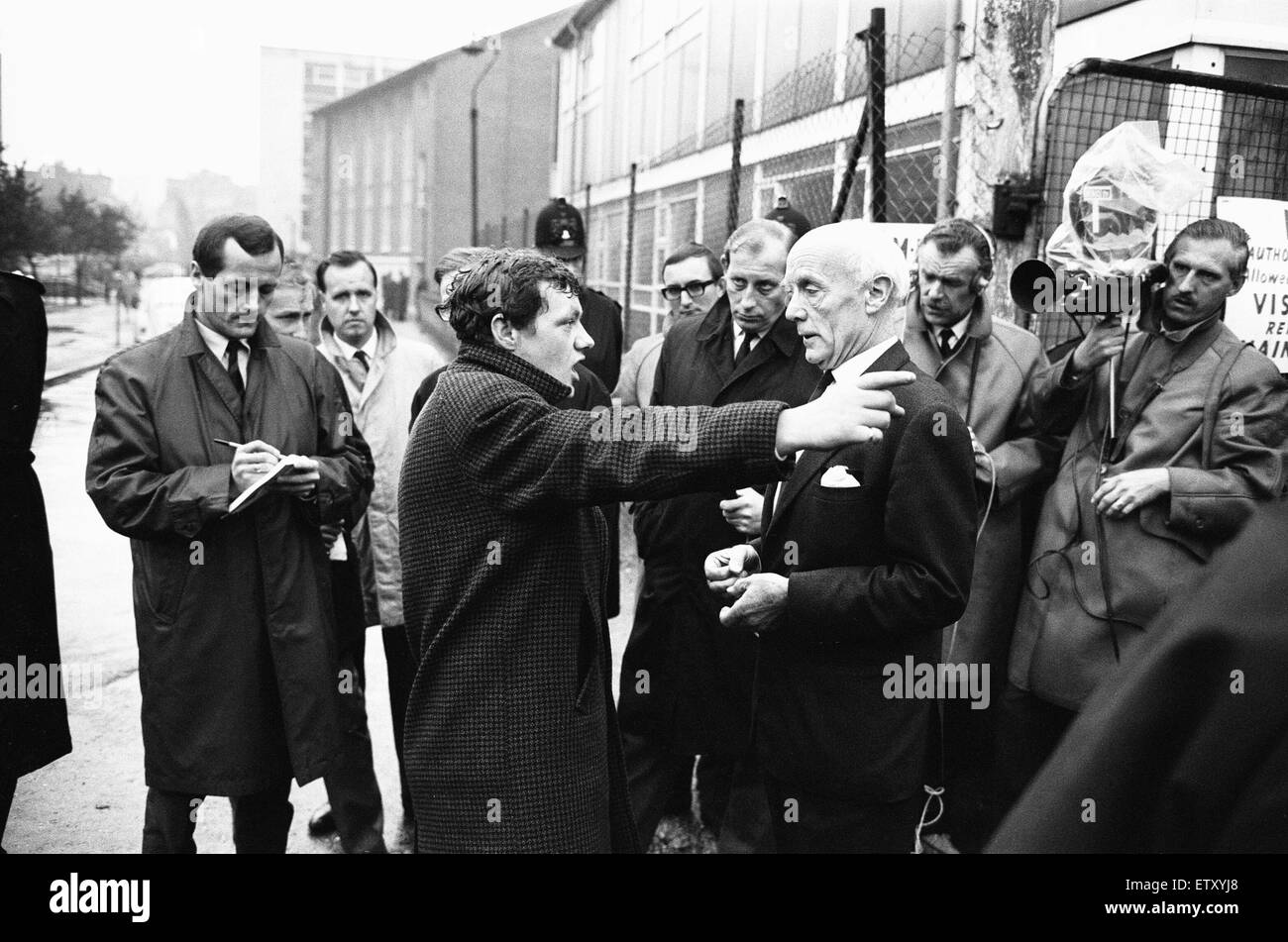 Between 1965-1967, there were a series of disputes on Myton Ltd's Barbican redevelopment site in the City of London. Stock Photo