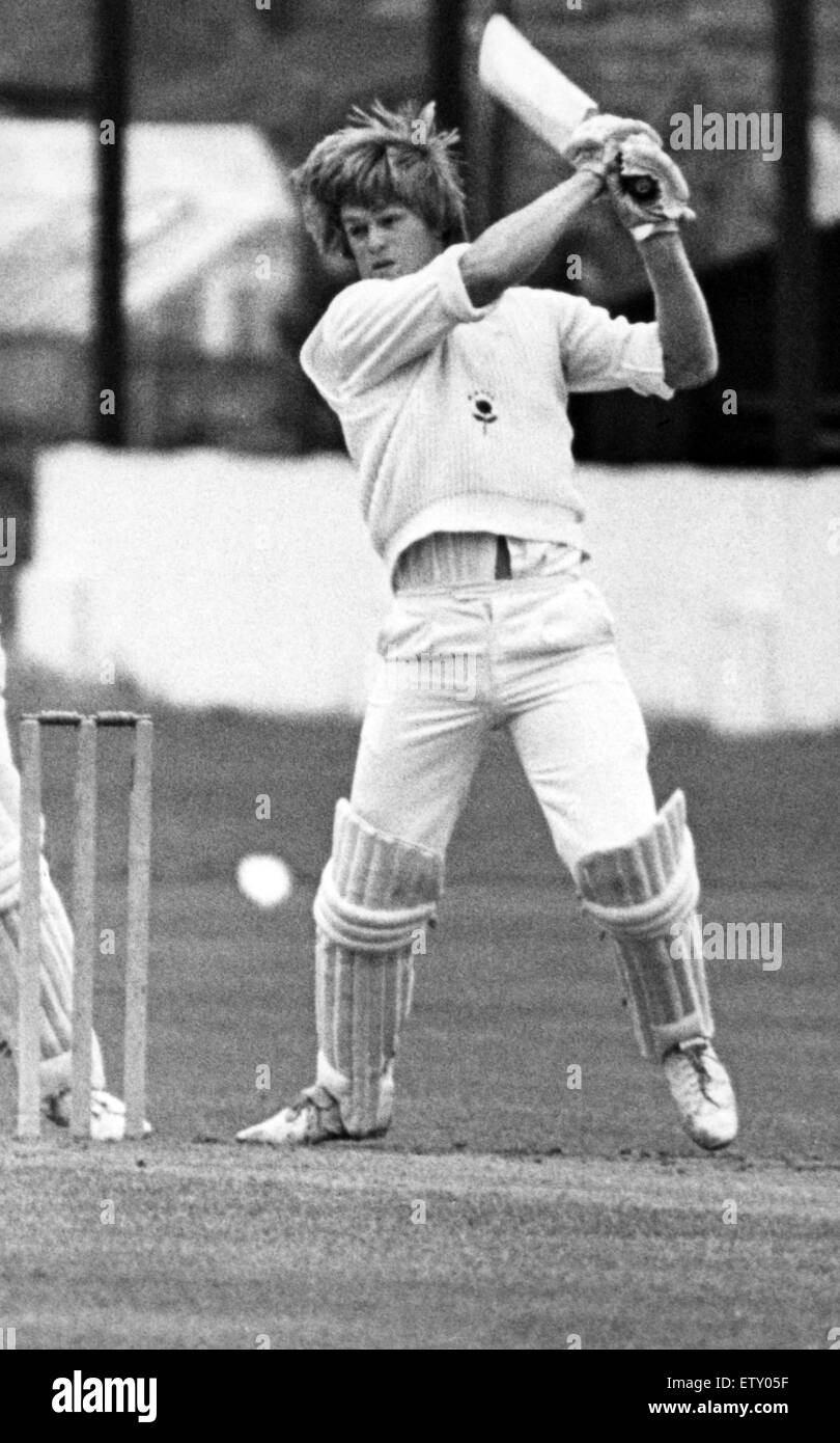 Greg Hill of Middlesbrough CC, 1st July 1978. - Stock Image