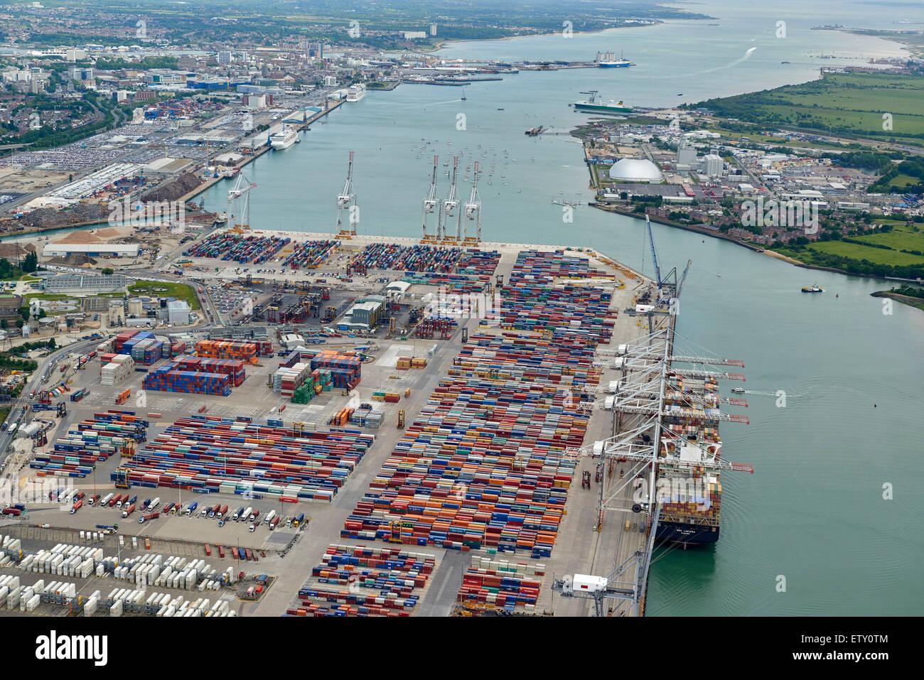 Southampton Docks, southern England, UK - Stock Image