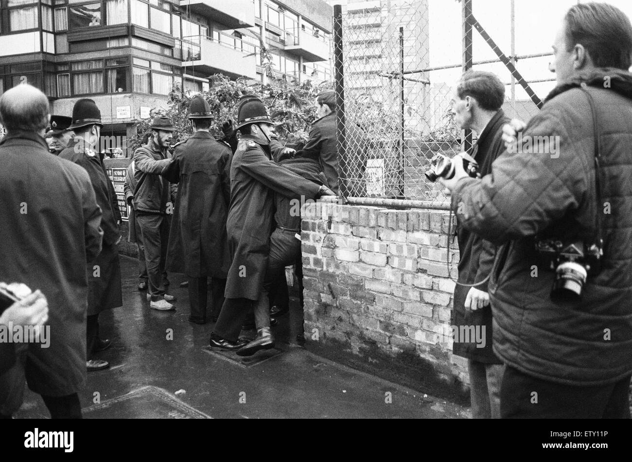 The Battle for the Barbican. Between 1965-1967, there were a series of disputes on Myton Ltd's Barbican redevelopment Stock Photo