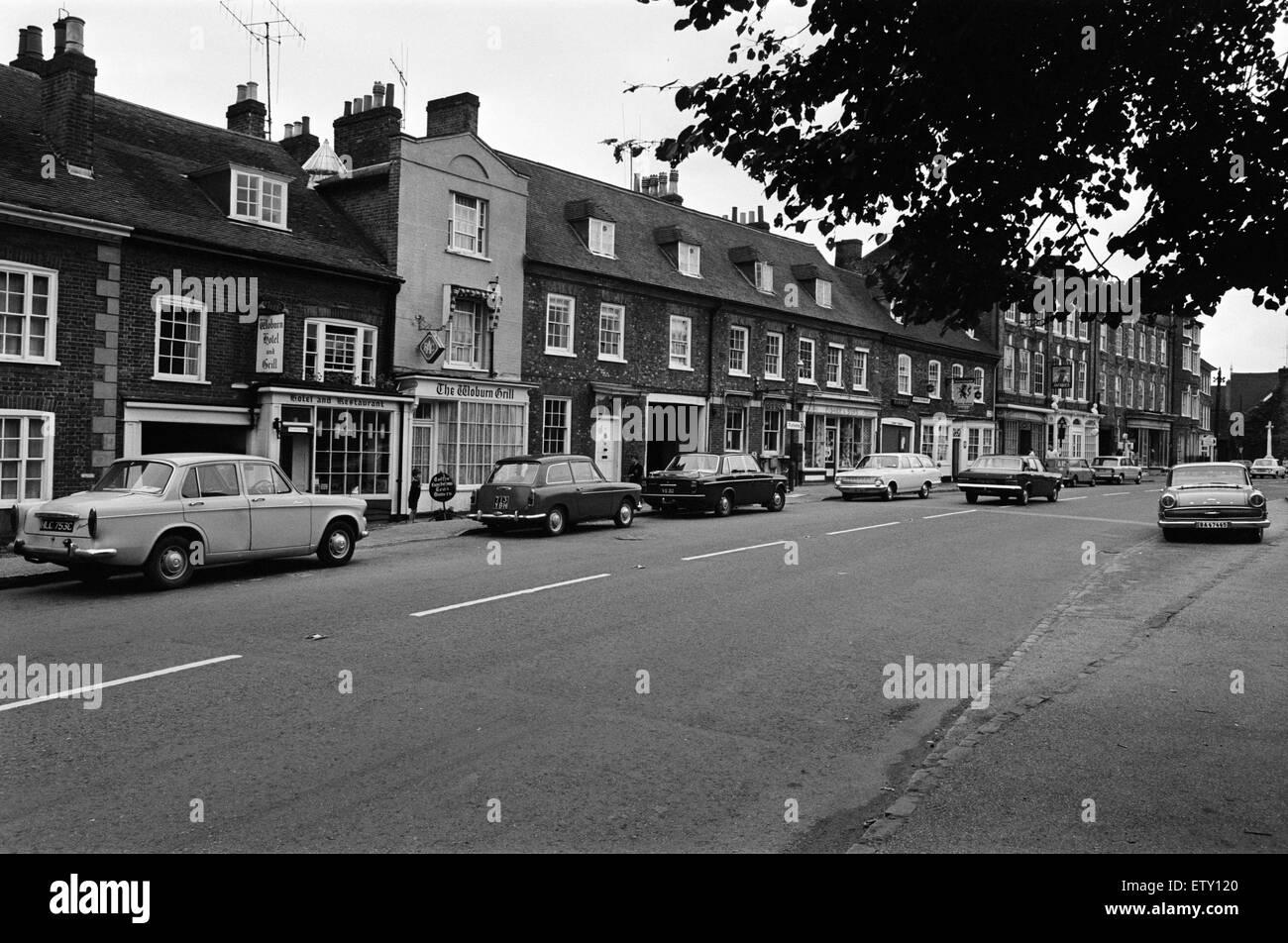 Bedford Street, Woburn Village, Bedfordshire. 24th July 1968. - Stock Image
