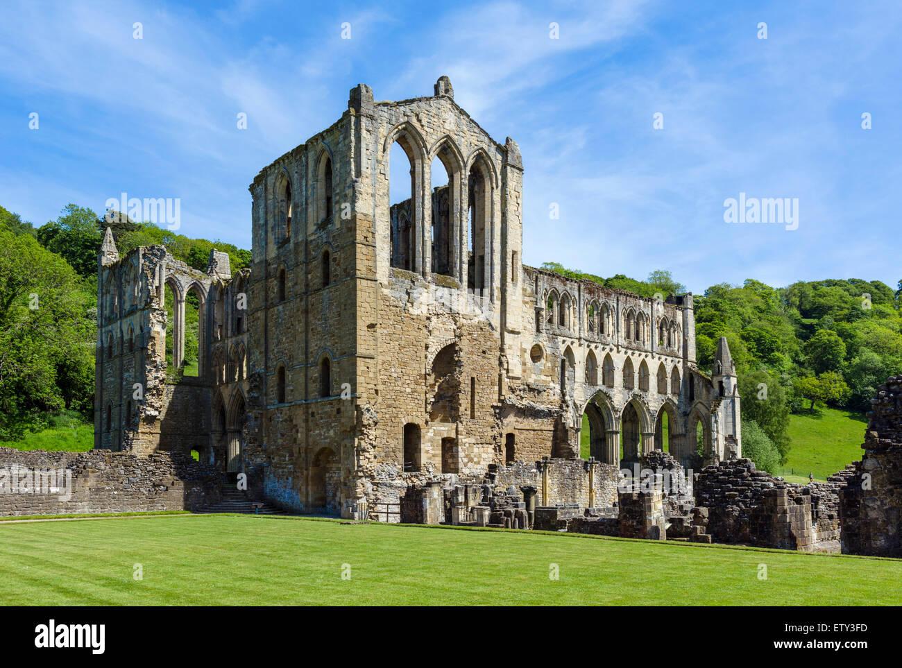 Ruins of Rievaulx Abbey, near Helmsley, North Yorkshire, England, UK - Stock Image