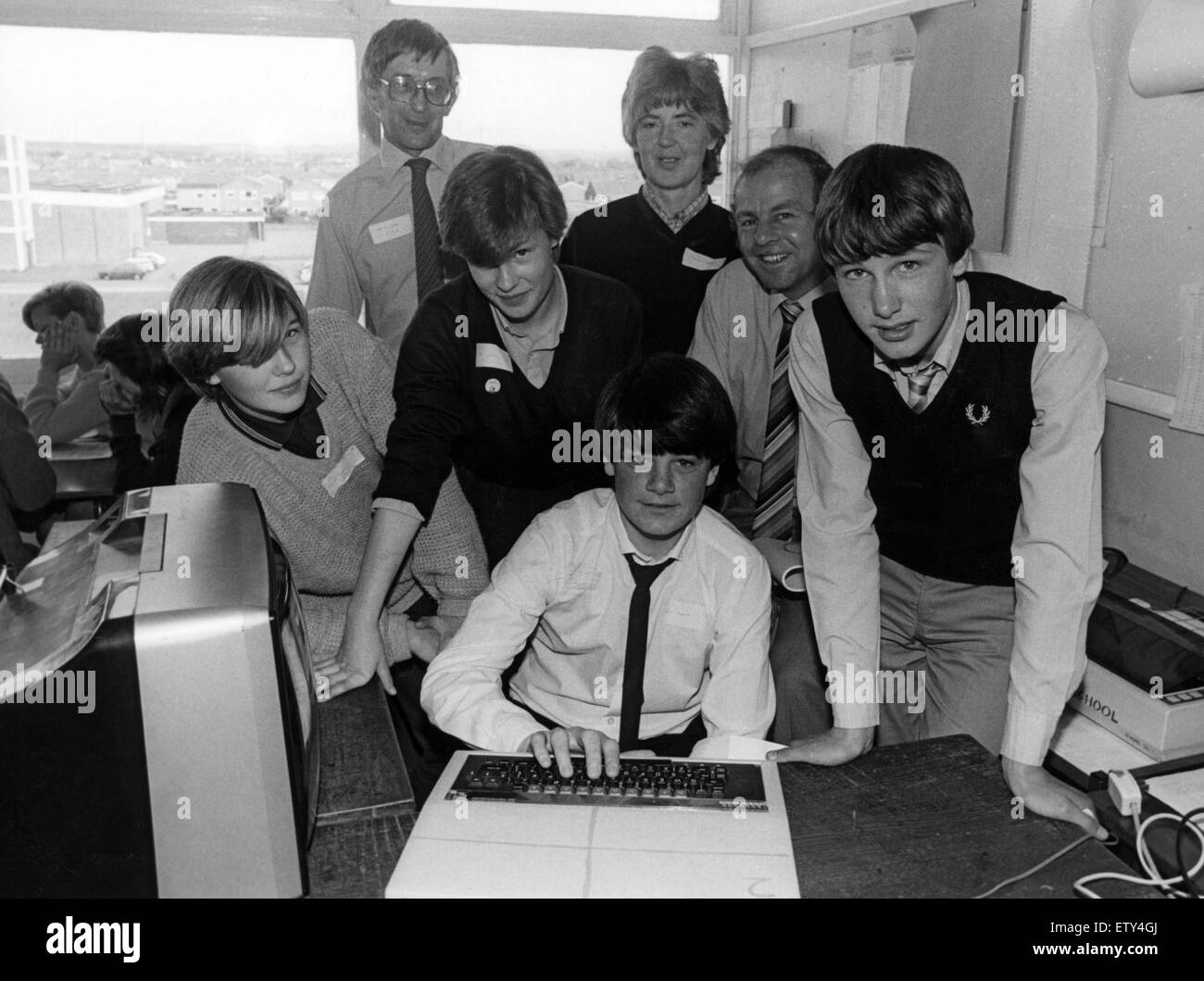 Pupils turned businessmen and women at Brunner Comprehensive School, Billingham - and most made a profit. The 75, - Stock Image