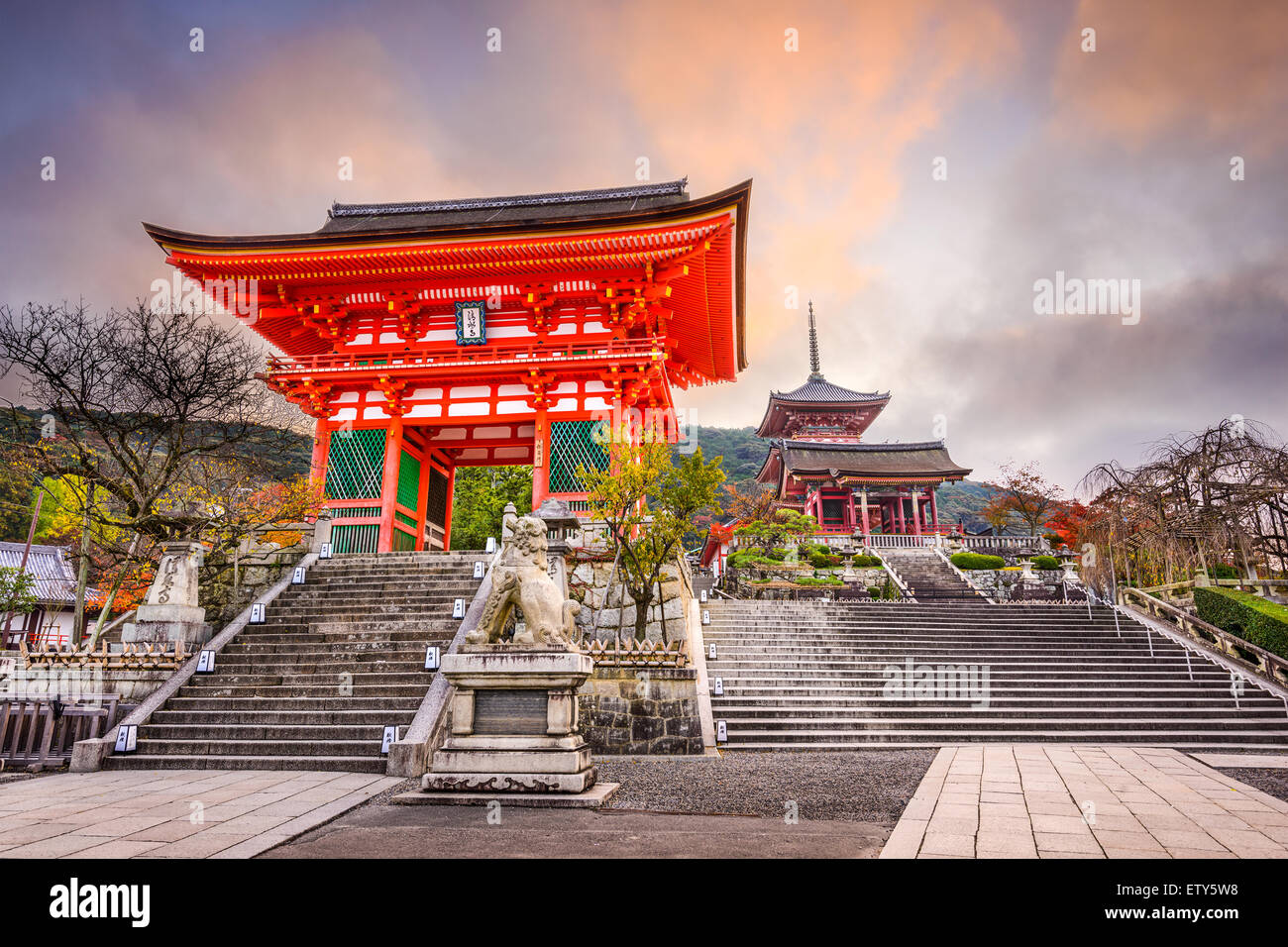 Kyoto, Japan at Kiyomizu Temple in the morning. - Stock Image