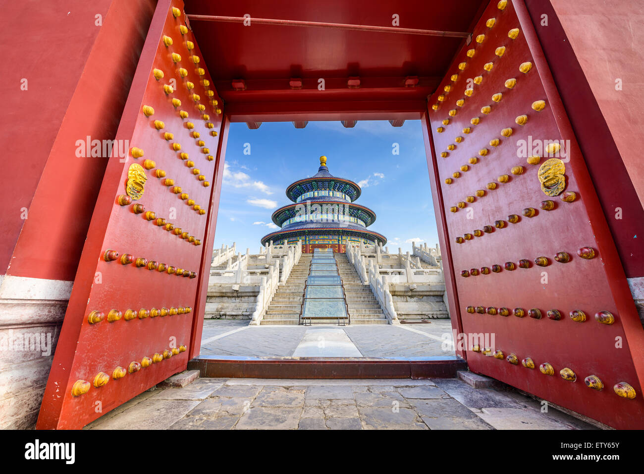 Beijing, China at the Temple of Heaven. - Stock Image