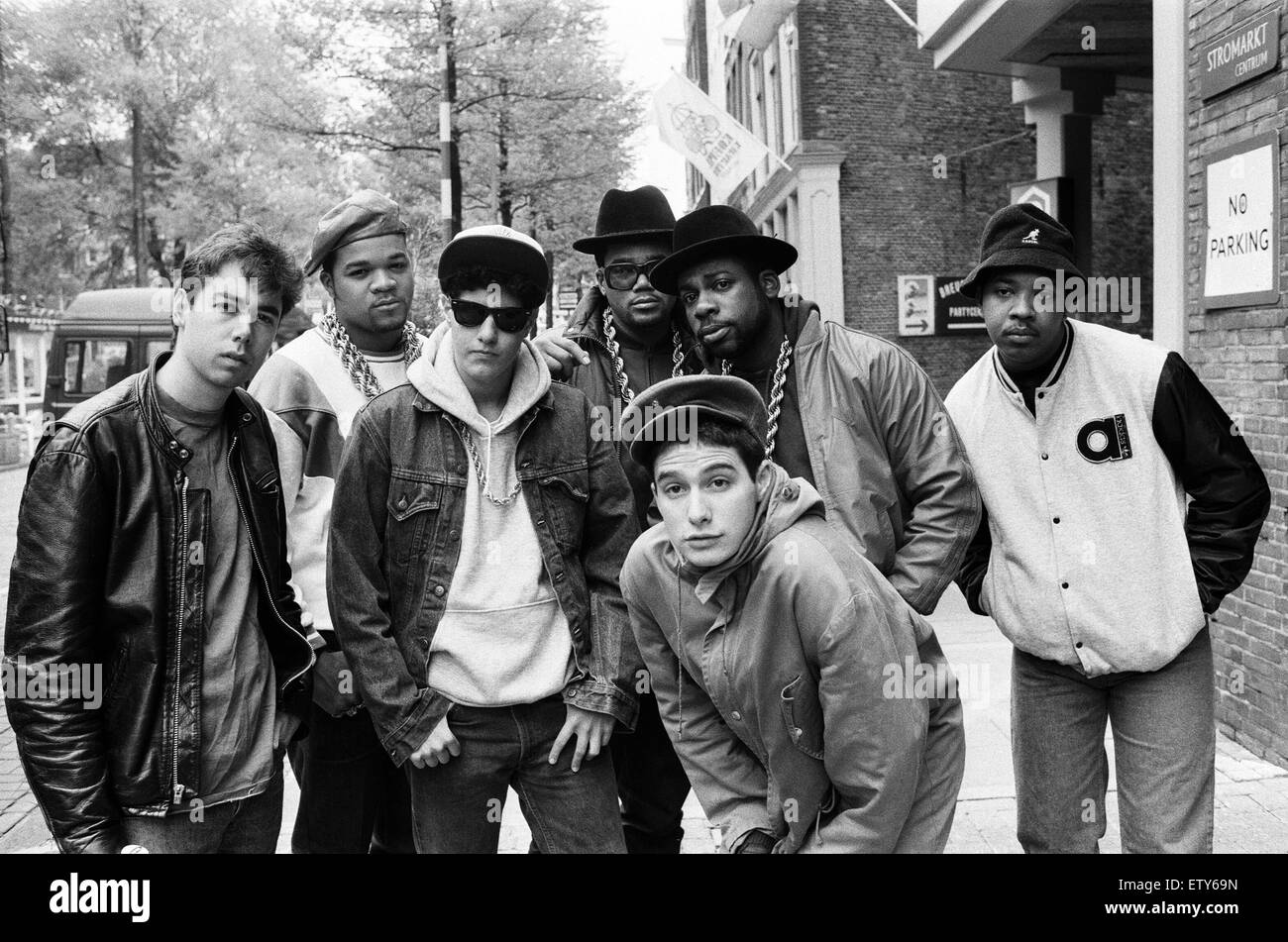 The Beastie Boys in Amsterdam with members of Run-DMC. 22nd May 1987. - Stock Image