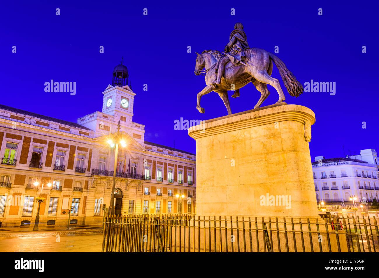 Madrid, Spain at Puerta del Sol. - Stock Image