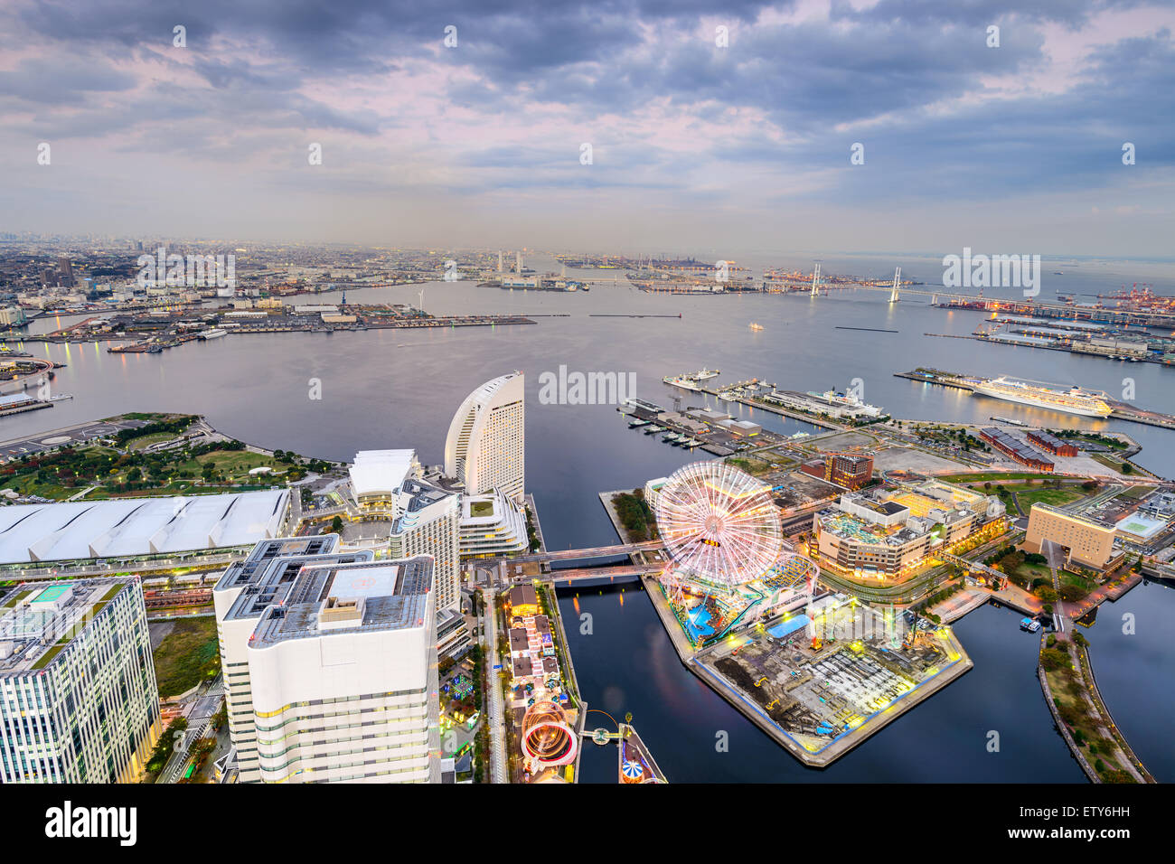 Yokohama, Japan at Minato-mirai waterfront. - Stock Image