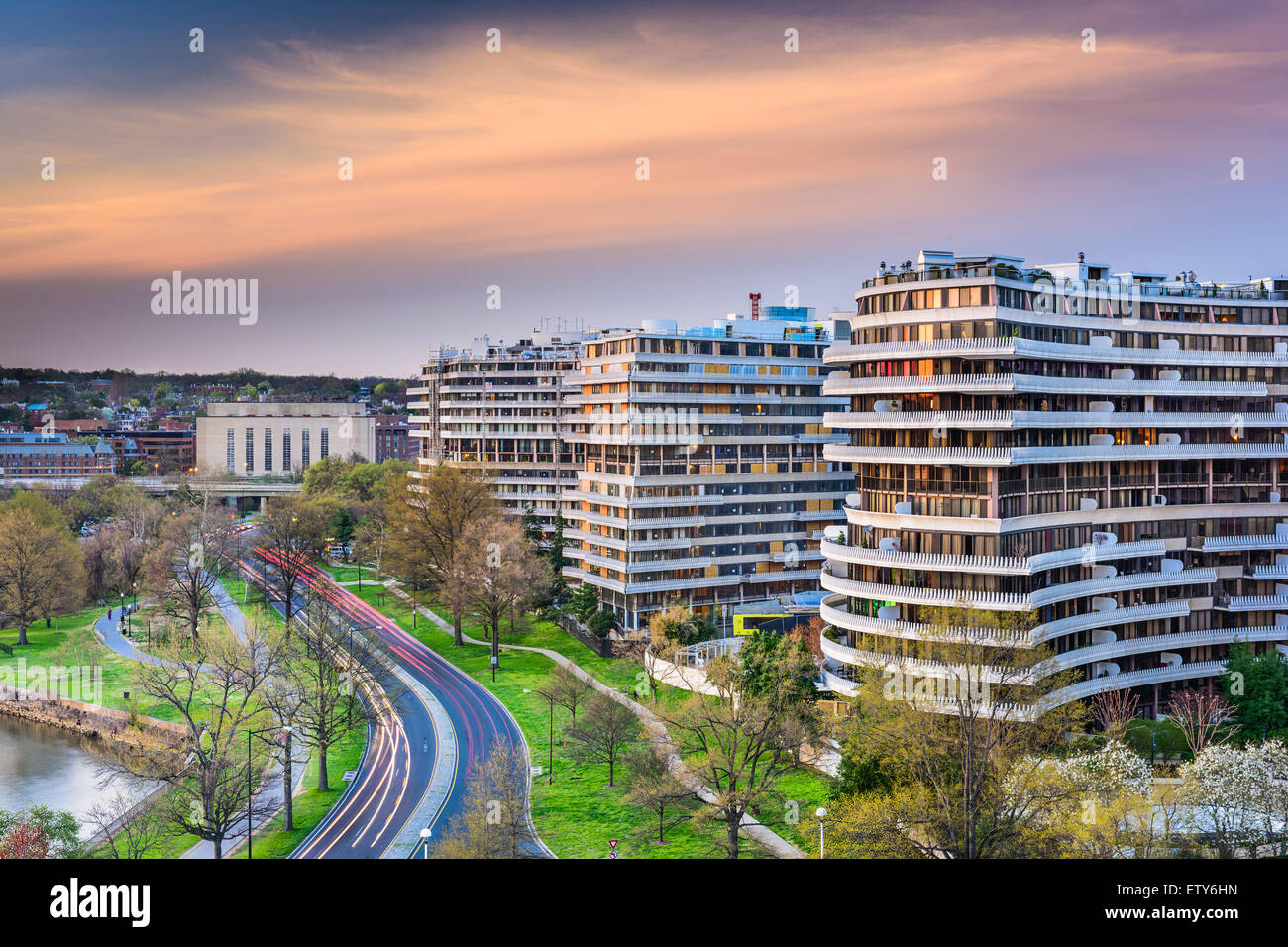 Washington, DC, USA cityscape in the Foggy Bottom District. - Stock Image