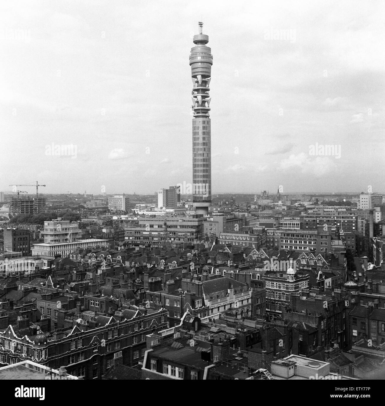 GPO Tower, London. 22nd September 1967. - Stock Image