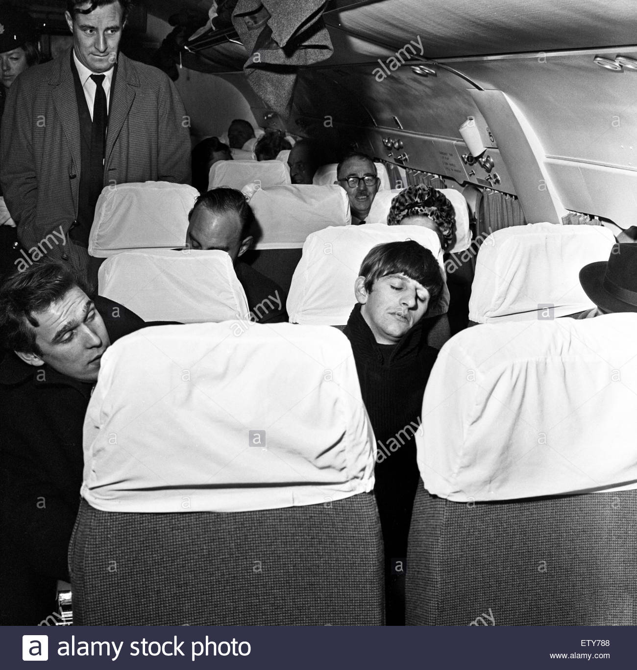 Beatles Drummer Ringo Starr Leaves Liverpool Airport For London And Paris January 1964