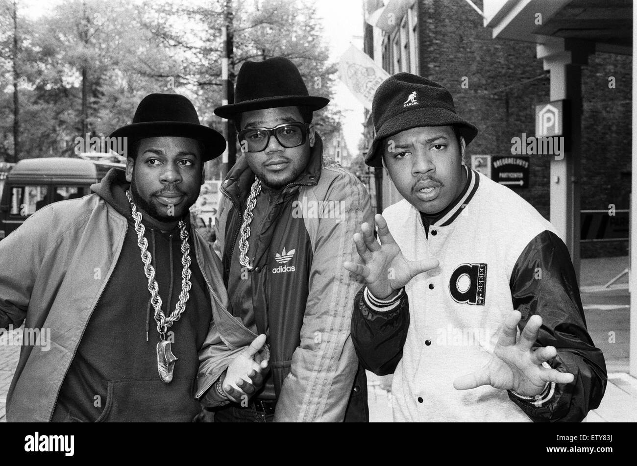 Run-DMC in Amsterdam. 22nd May 1987. - Stock Image
