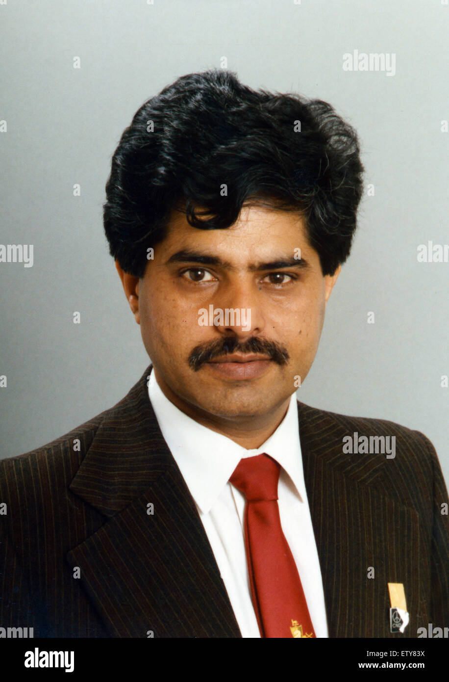 Councillor Raj Malhotra, first Asian Councillor for Coventry, Representing Lower Stoke for the Labour Party between - Stock Image