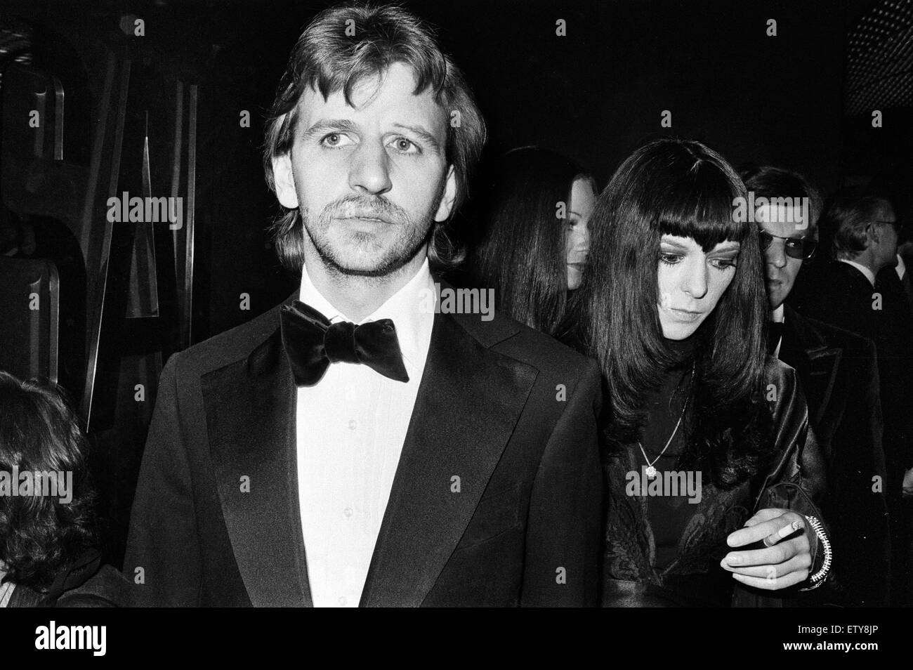 Former Beatles Drummer Ringo Starr Attends The Premiere Of Paramount Film Godfather In Lower Regent Street 23rd August 1972