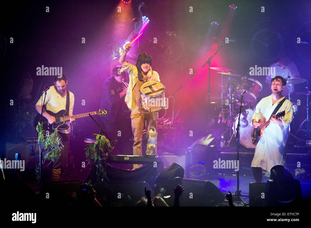 Rock band British Sea Power in concert at The Ritz, Manchester, UK, 11th June, 2015. Stock Photo