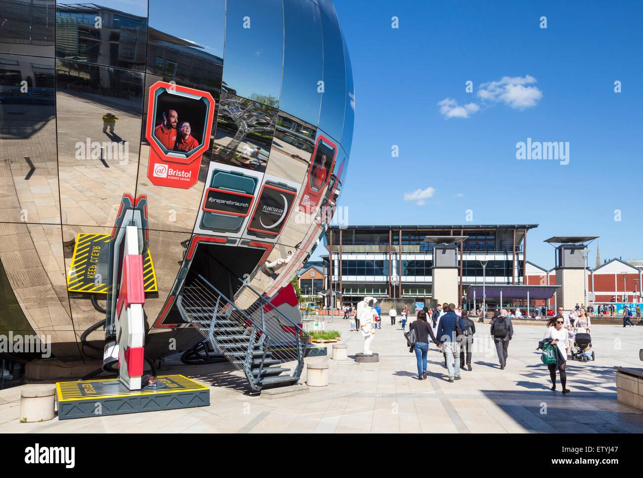 Planetarium sphere at Bristol Millennium Square Bristol Avon England UK GB EU Europe - Stock Image