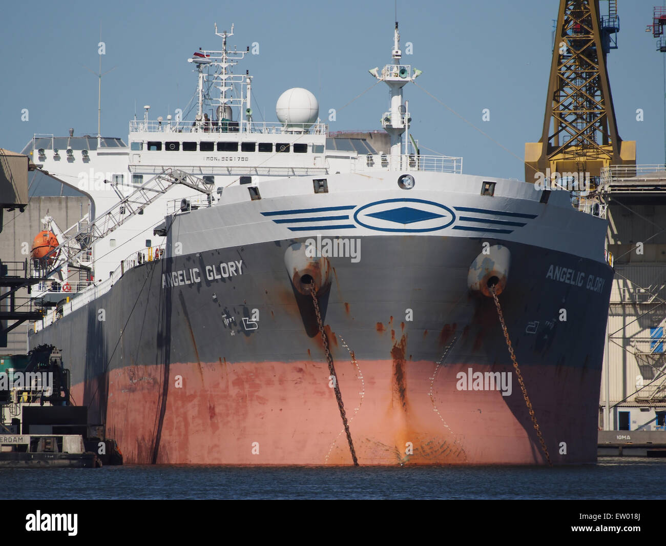 Angelic Glory - IMO 9261798 - Callsign SVCT, Vlothaven, Port of Amsterdam, pic1 - Stock Image