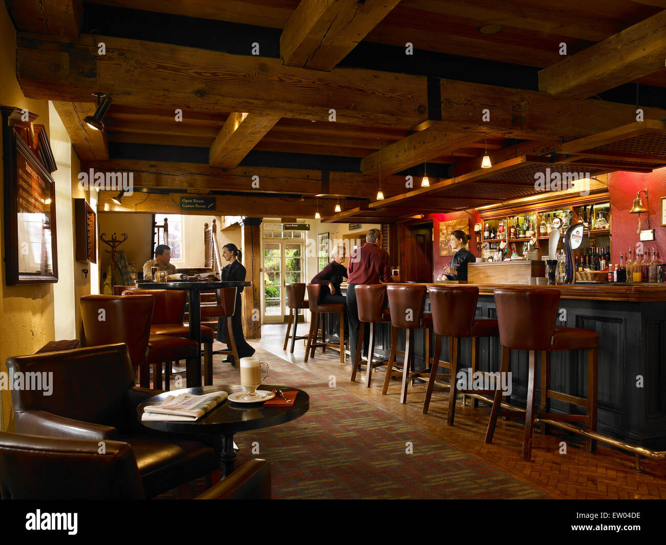 The President's Bar in the Clubhouse at Mount Juliet Country Estate in County Kilkenny. - Stock Image