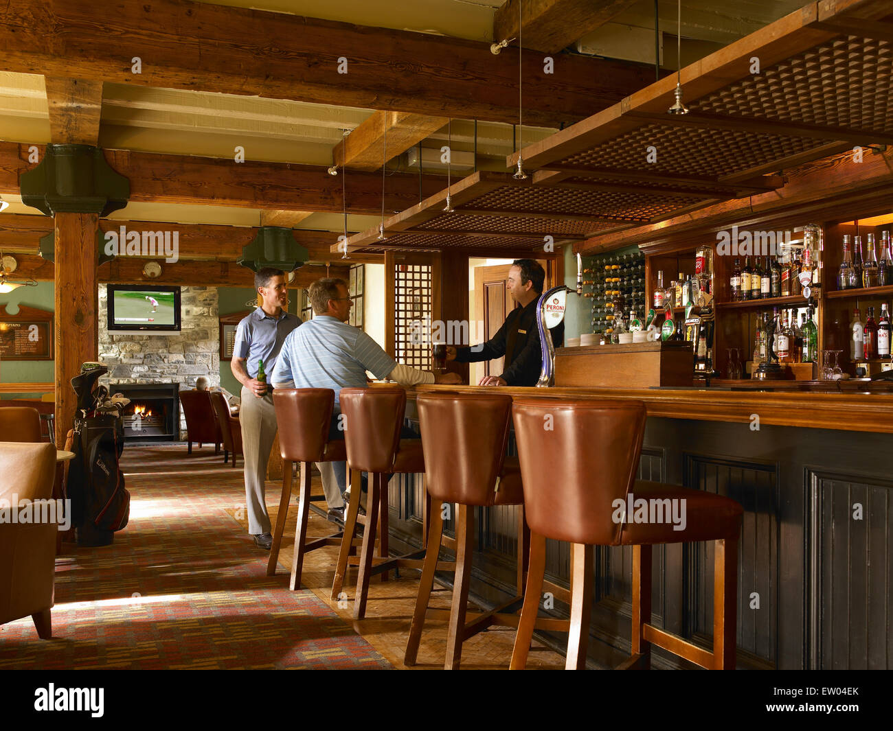 Spike bar in the Clubhouse at Mount Juliet Country Estate in County Kilkenny. - Stock Image