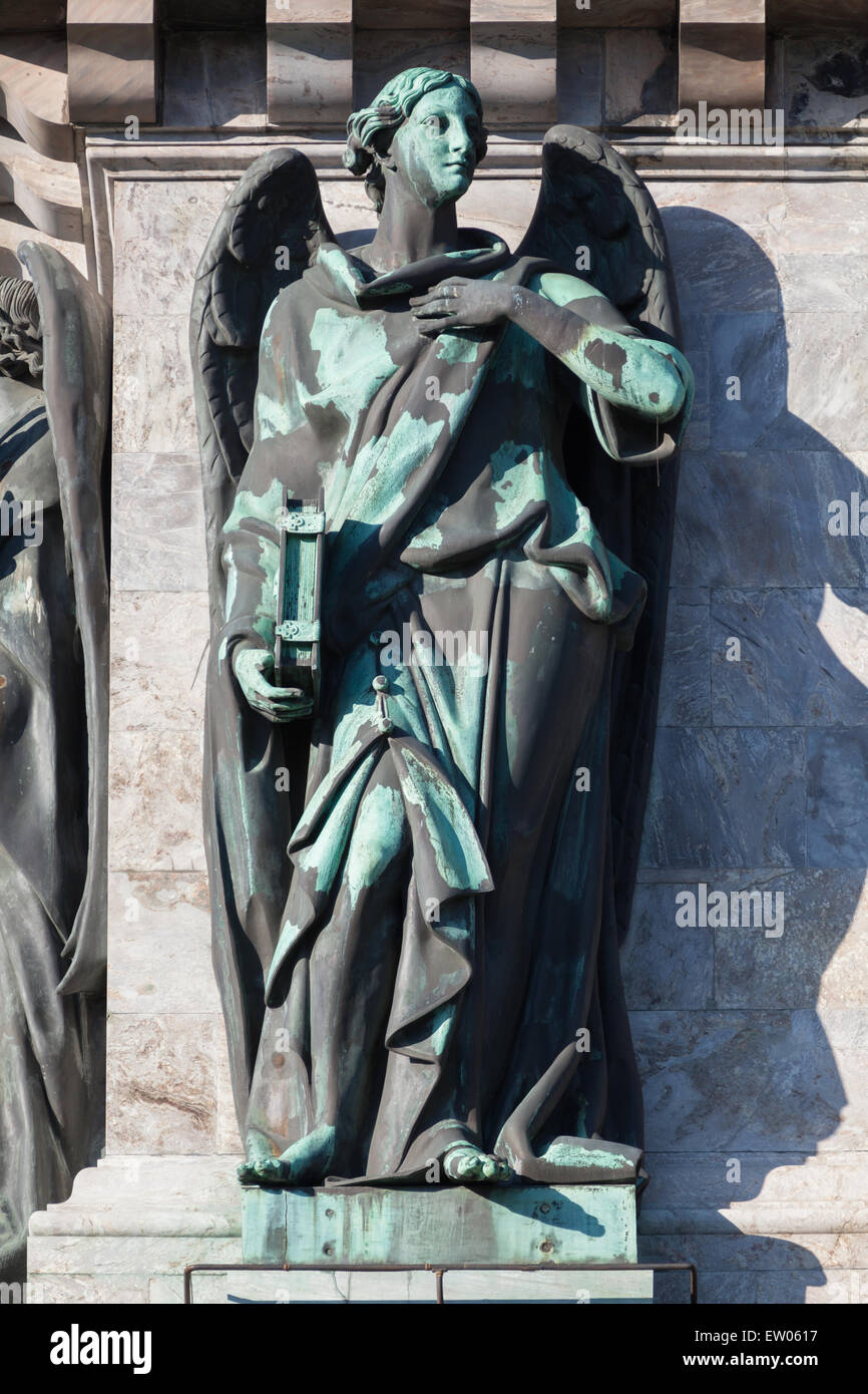 Angel on the Isaac cathedral, St Petersburg - Stock Image