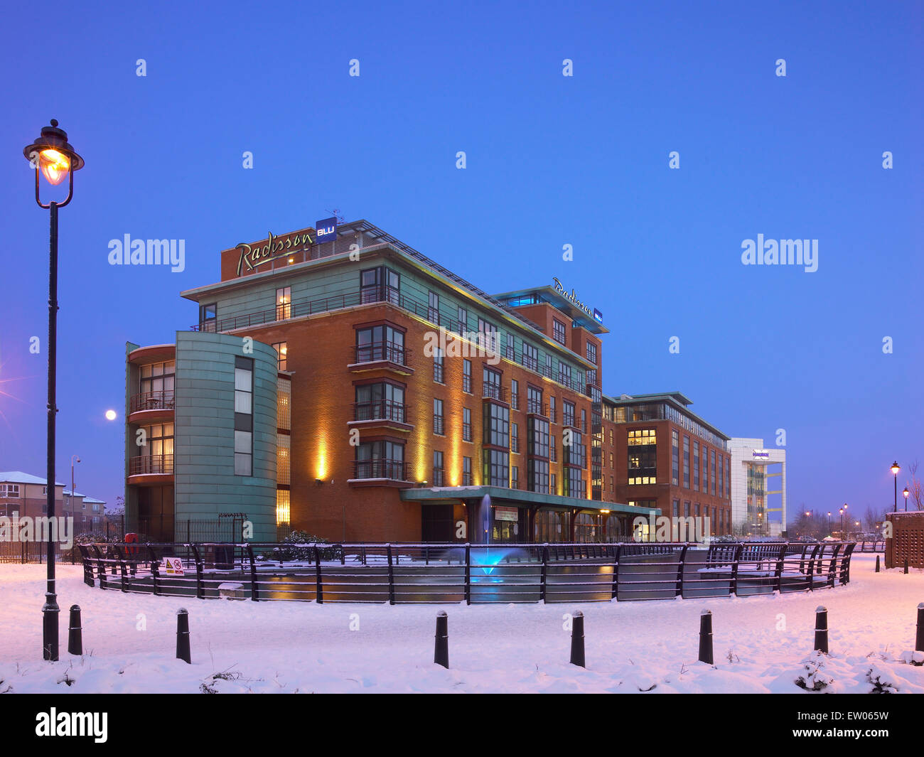 The Radisson Blu Hotel Belfast at the Gasworks. - Stock Image