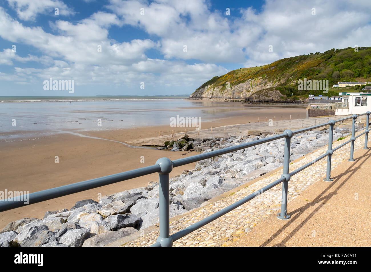 Pendine Sands  a 7 mile length of beach on the shores of Carmarthen Bay Wales UK Europe - Stock Image