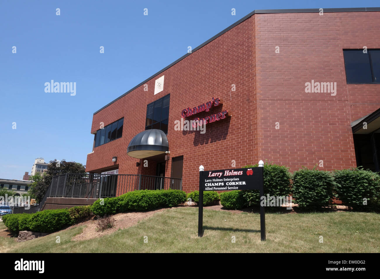 Larry Holmes enterprises, champ's corner, bar restaurant, by boxer Larry Holmes, Easton, PA. USA. - Stock Image