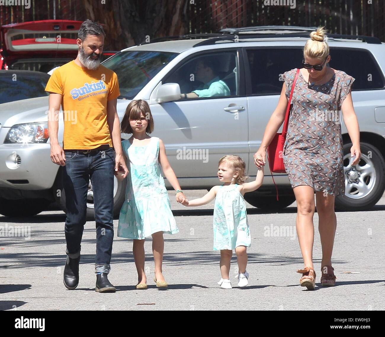Busy Philipps With Husband Marc Silverstein With Their