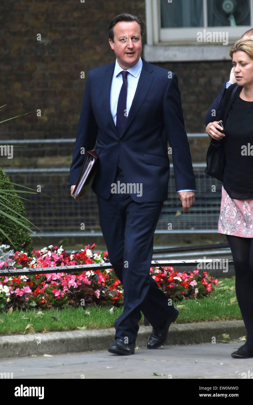 London, UK. 16th June, 2015. British Prime Minister David Cameron arrives at No.10 Downing Street for a meeting Stock Photo