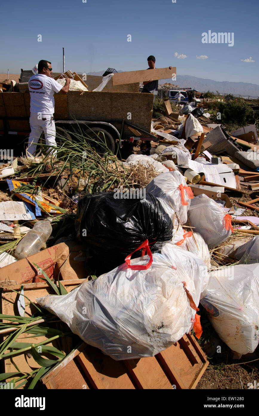 About 50% of the residential refuse deposited for disposal at the City of Tucson's Los Reales Landfill could - Stock Image