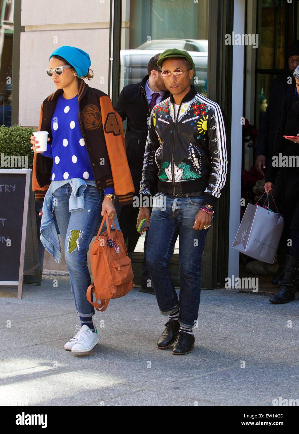 5a828a95 Pharrell Williams and Helen Lasichanh out and about in SoHo Featuring: Pharrell  Williams, Helen Lasichanh Where: New York City, New York, United States ...