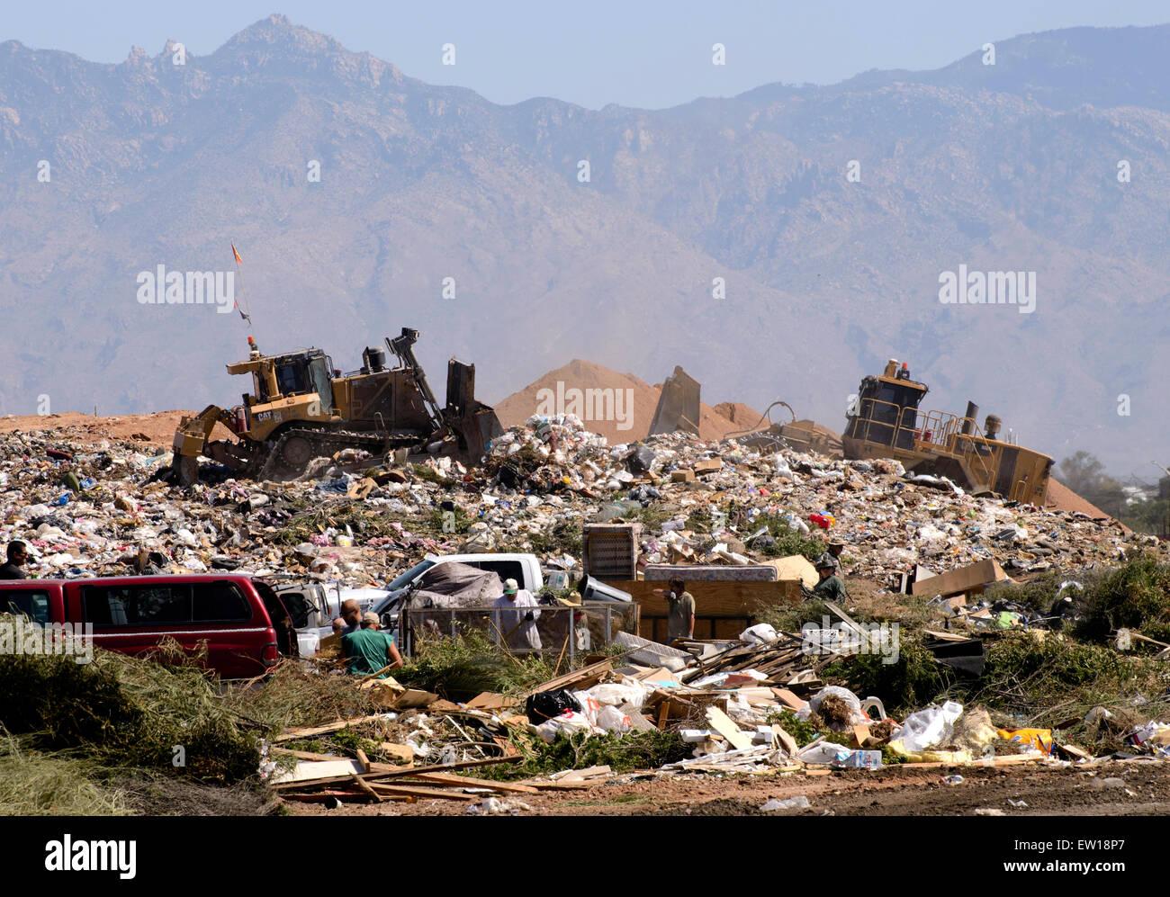 Los Reales Landfill, Tucson, Arizona, USA. - Stock Image