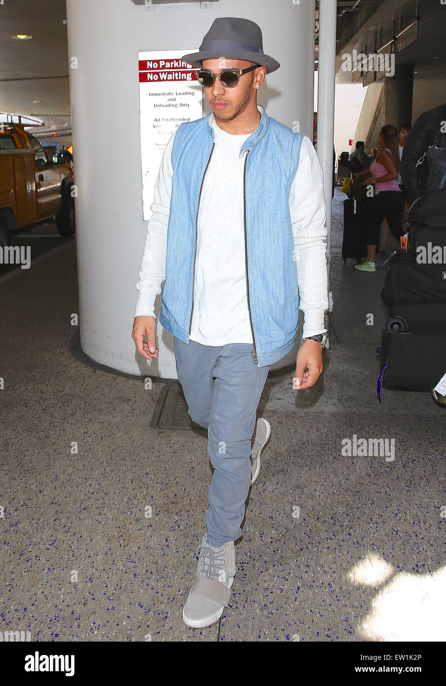 low priced 17172 0b811 Lewis Hamilton, wearing a pair of Kanye West x Adidas Yeezy ...